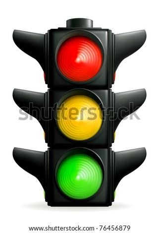 Traffic lights, 10eps - stock vector