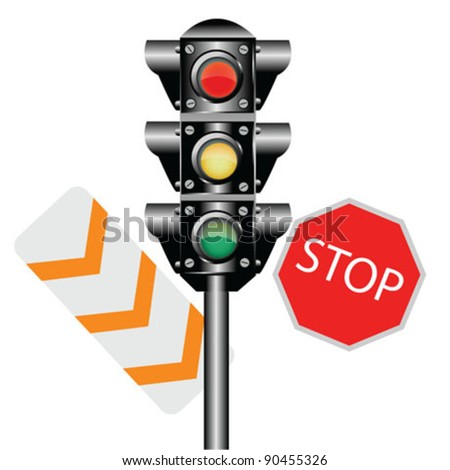 Traffic Lights Isolated - stock vector