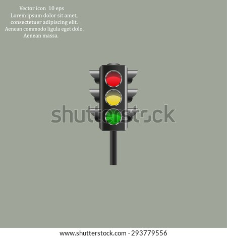 Traffic lights, vector