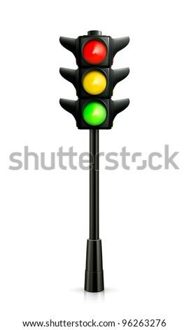 Traffic lights, vector - stock vector