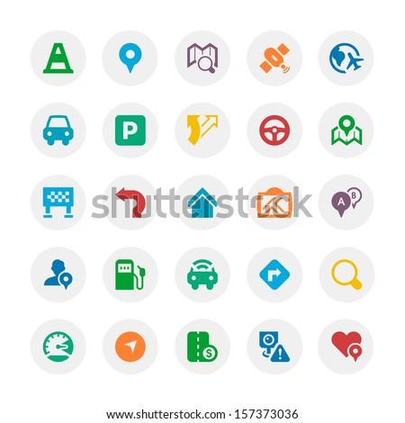 Traffic & Navigation icon   - stock vector