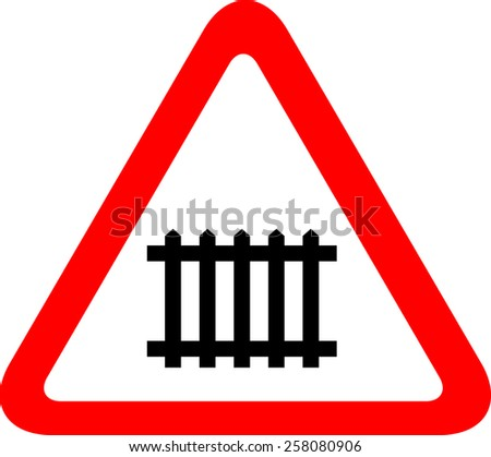 Traffic railway sign - stock vector