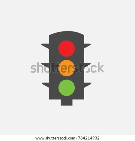 traffic robot lights green red and orange on lights for road vector icon