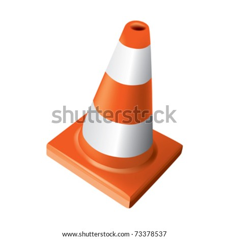 traffic safety cone - stock vector