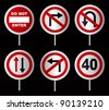 traffic sign - stock vector