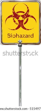 Traffic sign  biological danger Bio hazard - stock vector