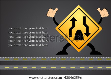 Traffic sign Dual Carriage Way End isolated