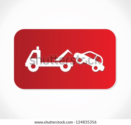 Traffic sign - no parking, tow away zone sign - stock vector