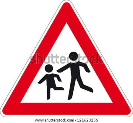 traffic sign playing children