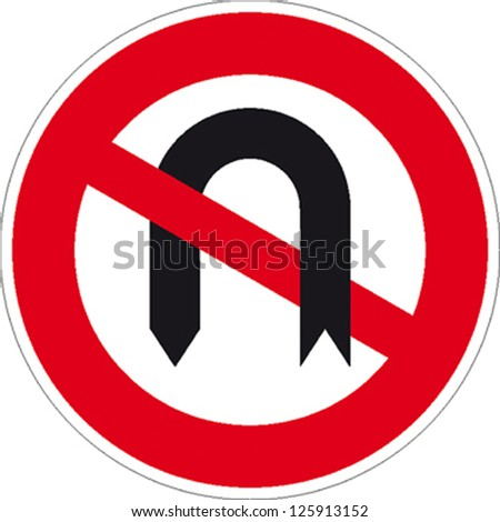 traffic sign turn forbade