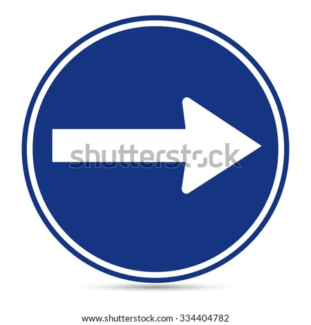 Traffic Sign, Turn right sign on white background, Vector EPS10