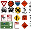 Traffic Signage Set - stock photo