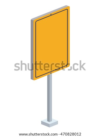 traffic signal isometric icon vector illustration design