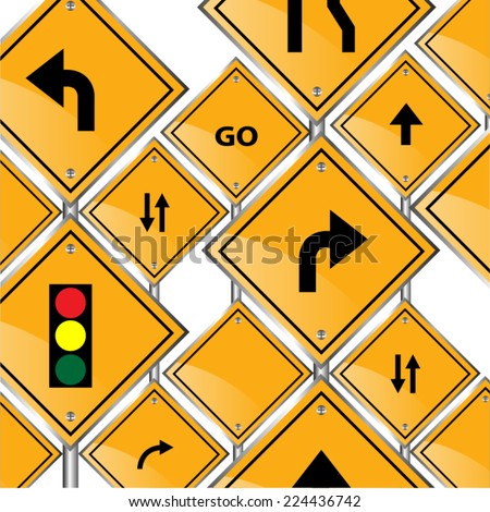 traffic signs background vector