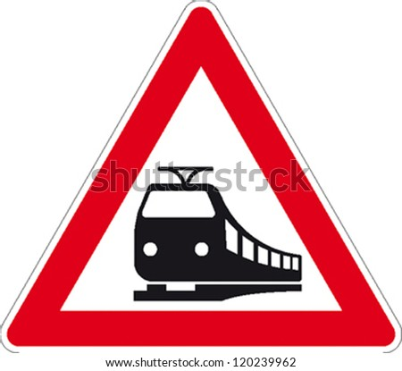traffic signs train tracks