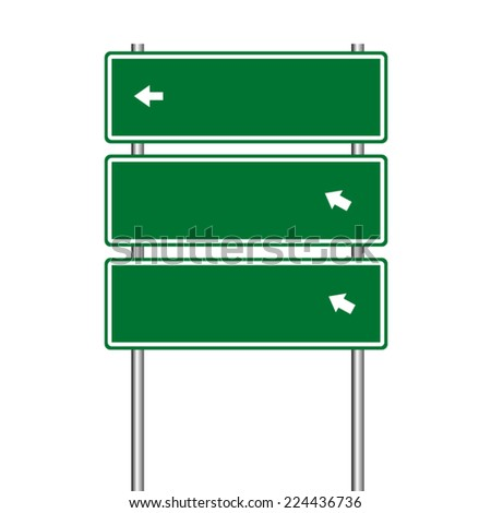 traffic signs vector on white background