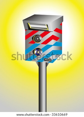 traffic speed camera - stock vector