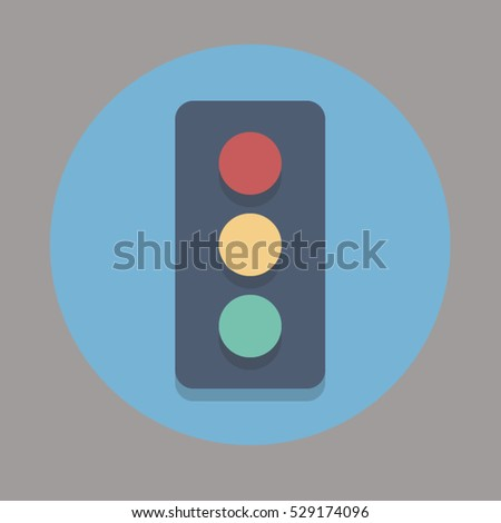 traffic vector icon for web and mobile application flat color design style
