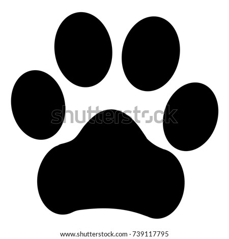trail paws vector illustration dog cat stock vector 739117795 rh shutterstock com dog paw vector graphic dog paw vector art