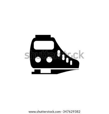Train icon - stock vector