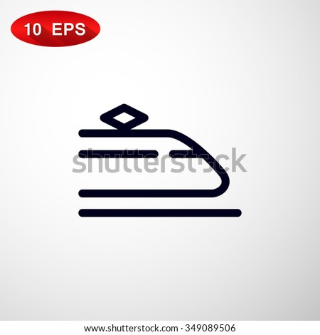 Train icon. - stock vector
