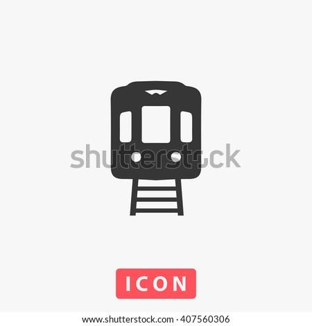 train Icon.  - stock vector