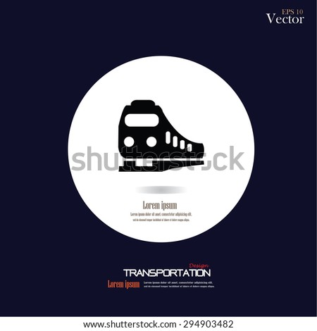 Train icon. vector illustration.     - stock vector