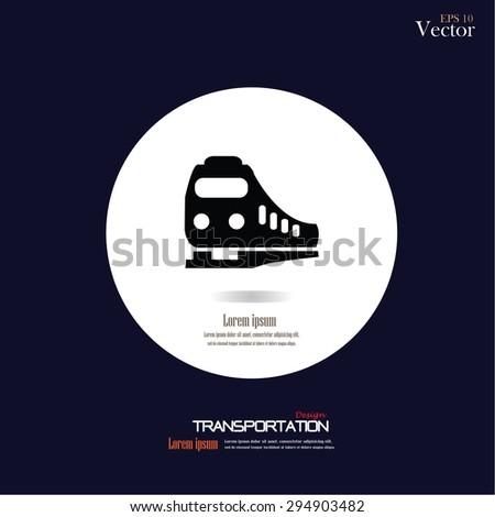 Train icon. vector illustration.     - stock vector