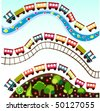 train pattern - stock vector