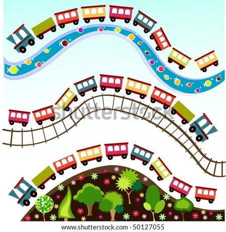 train pattern - stock vector