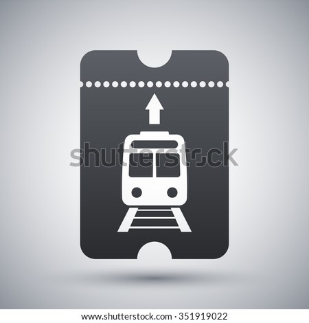 Train ticket icon, vector - stock vector