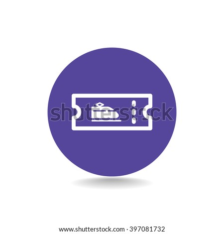 train ticket , icon. Vector Eps 10 - stock vector
