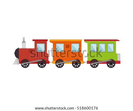 train toy kid isolated icon
