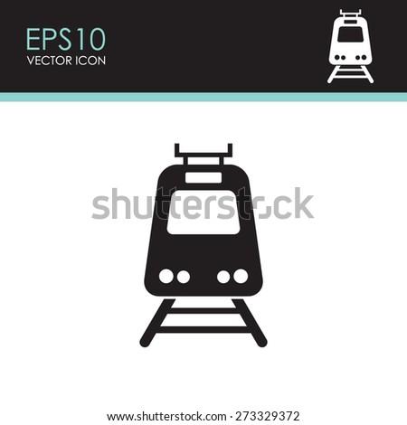 Train vector icon. - stock vector