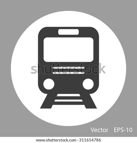 Train vector icon - stock vector