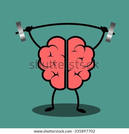 Train your brain. Creative concept illustration. - stock vector