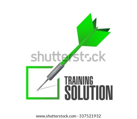 Training Solution check mark sign concept illustration design graphic icon