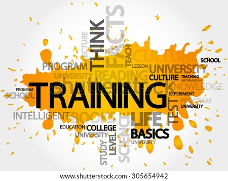 TRAINING word cloud, education concept - stock vector