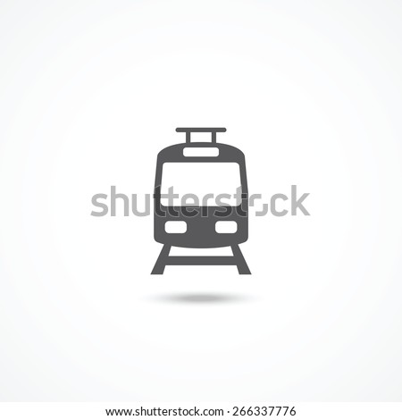 Tram icon - stock vector