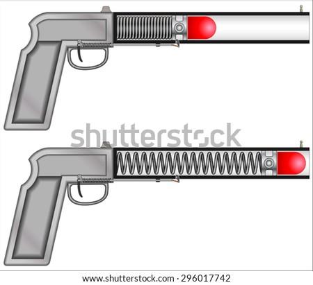 Tranquilizer Gun Spring - stock vector