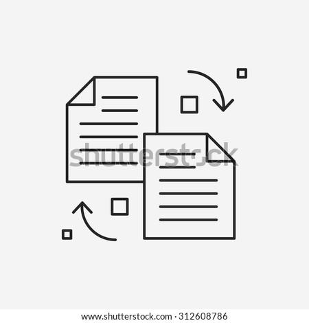 transfer line icon - stock vector