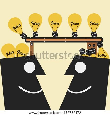 Transferring Idea - stock vector