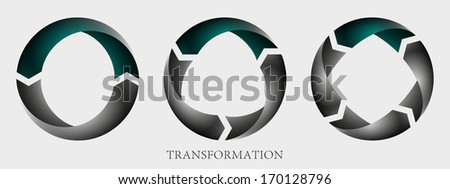 Transformation info graphic vector icon - stock vector