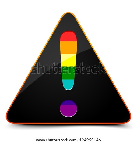 Transgender Exclamation - stock vector