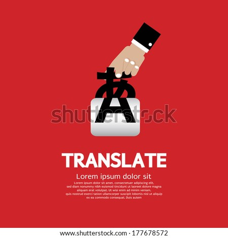 Translate Concept Vector Illustration - stock vector