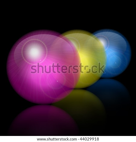 Translucent glass ball in Vector - stock vector