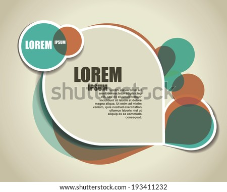 transparent abstract background. template banner - stock vector