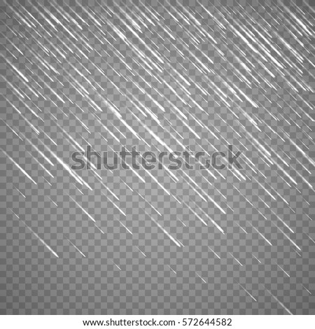 Transparent anglewise rain drops isolated on abstract background. Vector rainy drop effect