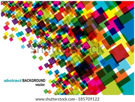 transparent bright squares background  - stock vector