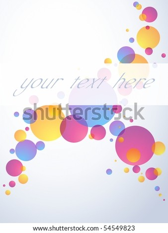 Transparent bubble banner, vertical. Includes transparencies (eps10); jpg version also available - stock vector